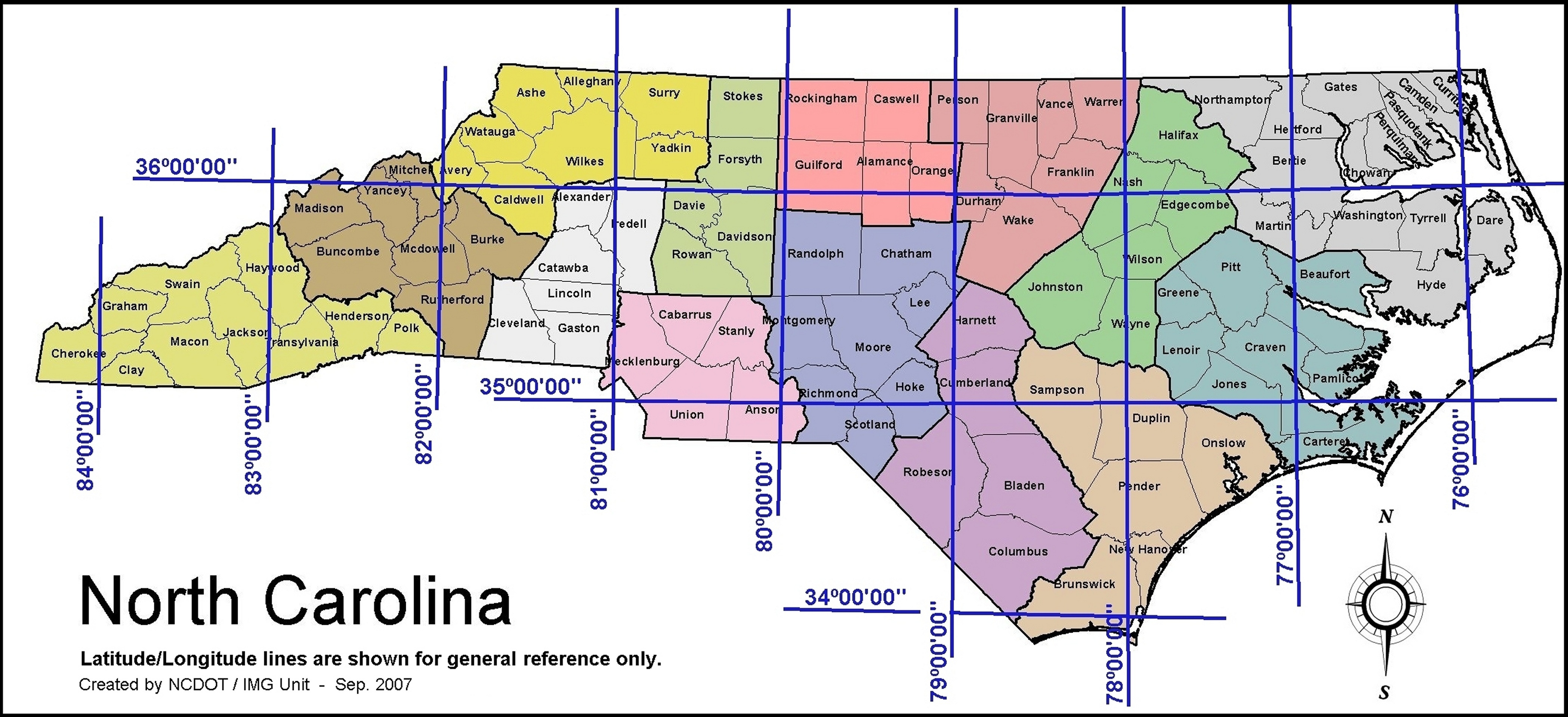 Pitt County Maps - County maps of north carolina
